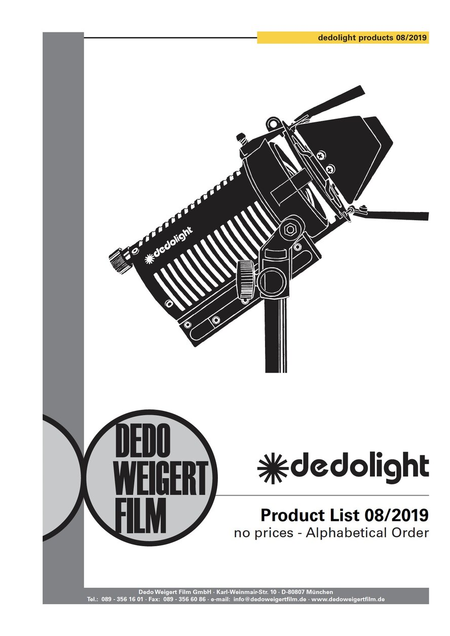 dedolight Products List • no prices
