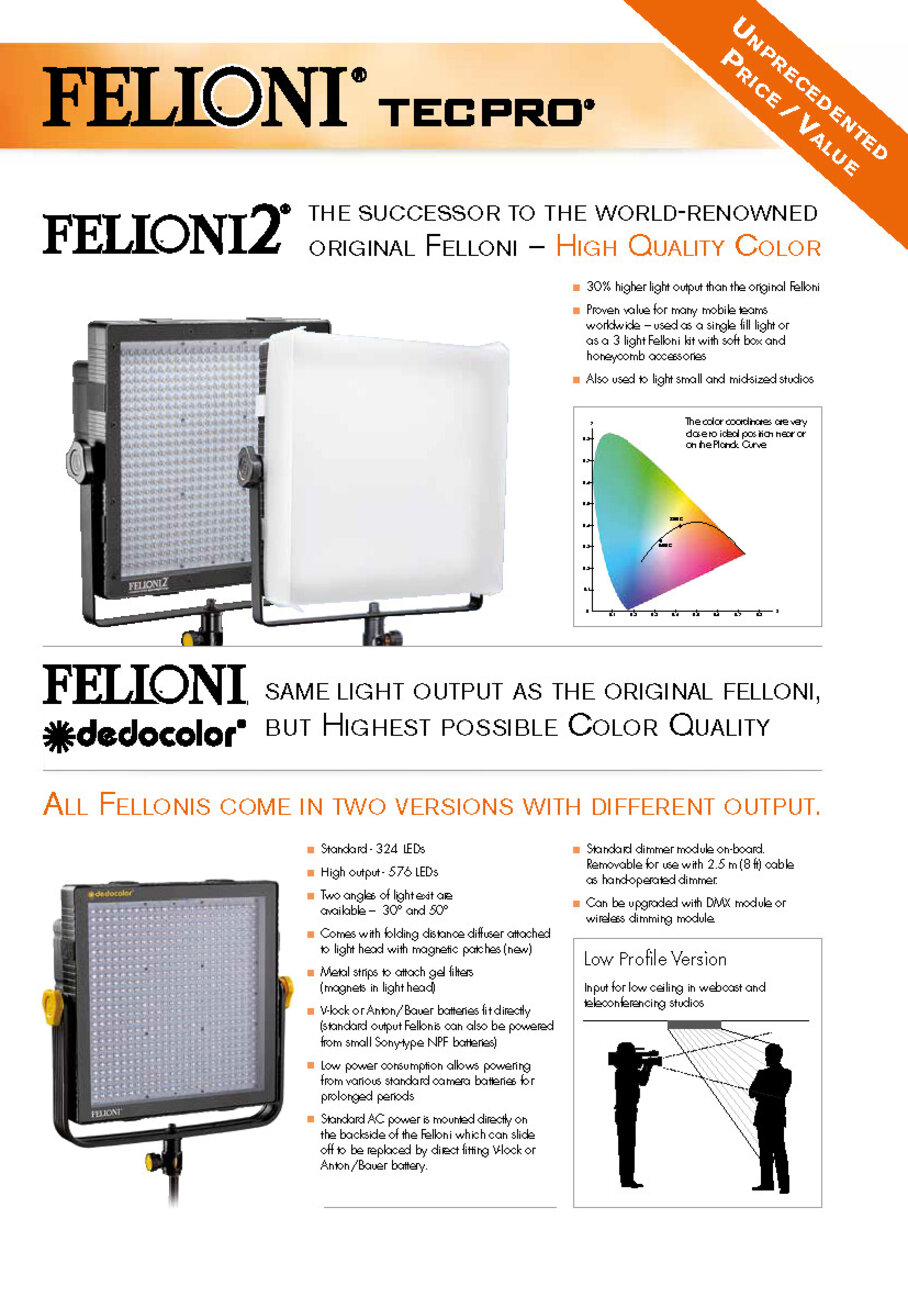 Tecpro Felloni 2 and Felloni dedocolor Flyer