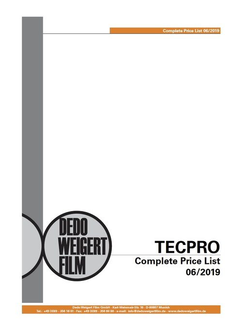 Tecpro complete price list